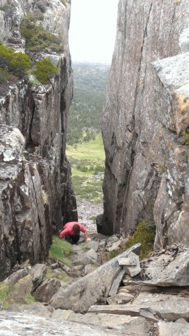 Walls of Juraselum Tasmania.